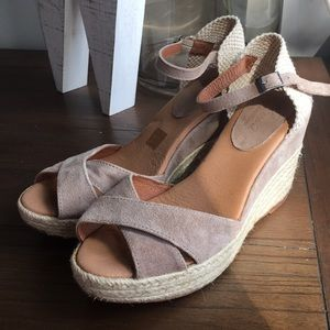 Pinaz Made in Spain Leather Espadrilles 10